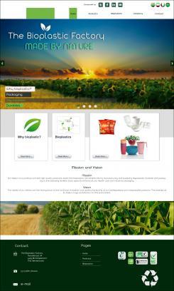 Website design # 438406 voor The Bioplastic Factory..we do good, but we want to do great with our new website! wedstrijd