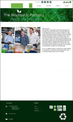 Website design # 438411 voor The Bioplastic Factory..we do good, but we want to do great with our new website! wedstrijd