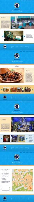 Webpagina design # 442157 voor Ontwerp nieuw logo & website in arabische oosterse sferen voor marokkaans eethuis & lounge wedstrijd