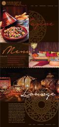 Webpagina design # 441453 voor Ontwerp nieuw logo & website in arabische oosterse sferen voor marokkaans eethuis & lounge wedstrijd