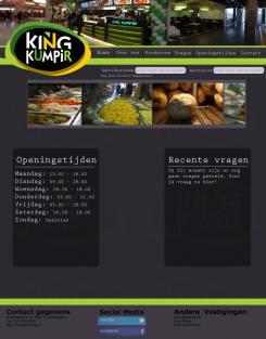 Website design # 174512 voor KING Kumpir website challenge wedstrijd