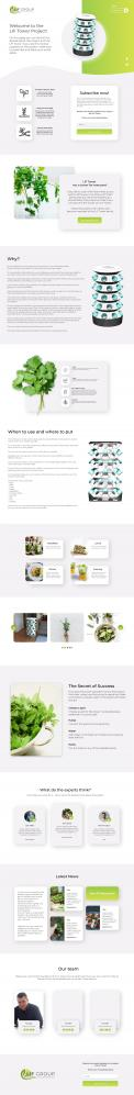 Website design # 1096888 for Attractive website page for our product! Preparation for launching our product by kickstarter contest
