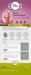 Website design # 155988 voor website voor Baroq Cakeboutique wedstrijd