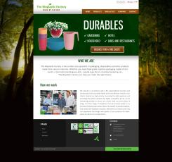 Website design # 435997 voor The Bioplastic Factory..we do good, but we want to do great with our new website! wedstrijd