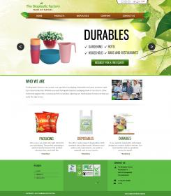 Website design # 436100 voor The Bioplastic Factory..we do good, but we want to do great with our new website! wedstrijd