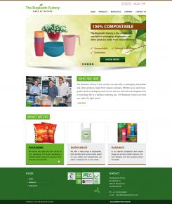 Website design # 436273 voor The Bioplastic Factory..we do good, but we want to do great with our new website! wedstrijd