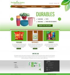 Website design # 436074 voor The Bioplastic Factory..we do good, but we want to do great with our new website! wedstrijd