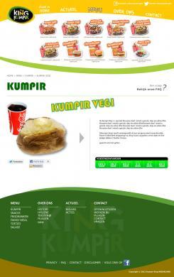 Website design # 178152 voor KING Kumpir website challenge wedstrijd