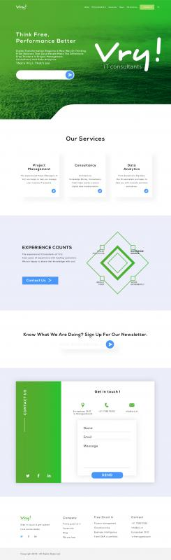 Website design # 991441 voor Vrij goede Consultants zoeken heel goed website ontwerp wedstrijd