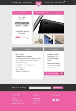 Website design # 304746 voor Nieuw design voor Dagaanbieder wedstrijd