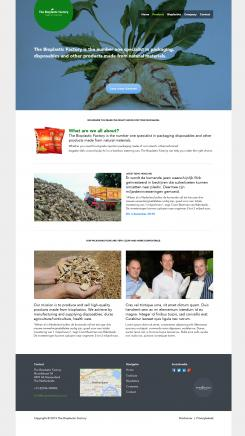 Website design # 436222 voor The Bioplastic Factory..we do good, but we want to do great with our new website! wedstrijd