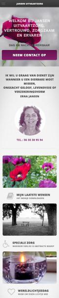 Website design # 306038 voor Erna Jansen Uitvaartzorg wedstrijd