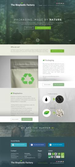 Website design # 437627 voor The Bioplastic Factory..we do good, but we want to do great with our new website! wedstrijd