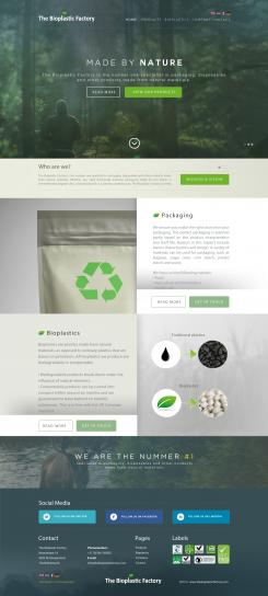 Website design # 434929 voor The Bioplastic Factory..we do good, but we want to do great with our new website! wedstrijd