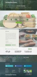 Website design # 437645 voor The Bioplastic Factory..we do good, but we want to do great with our new website! wedstrijd