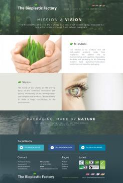 Website design # 438277 voor The Bioplastic Factory..we do good, but we want to do great with our new website! wedstrijd
