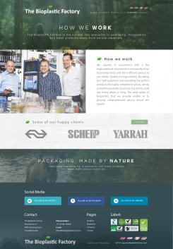 Website design # 438278 voor The Bioplastic Factory..we do good, but we want to do great with our new website! wedstrijd