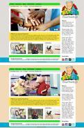 Website design # 293760 voor Ontwerp een vrolijke en kleurrijke website voor een buurt wedstrijd