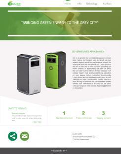 Webpagina design # 351282 voor Ecube Labs Benelux wedstrijd
