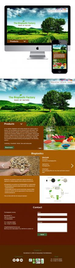 Website design # 436190 voor The Bioplastic Factory..we do good, but we want to do great with our new website! wedstrijd
