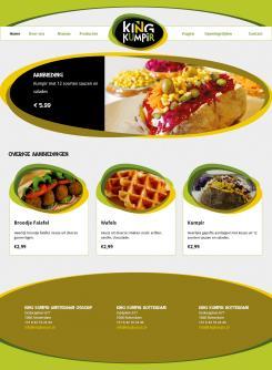 Website design # 181564 voor KING Kumpir website challenge wedstrijd